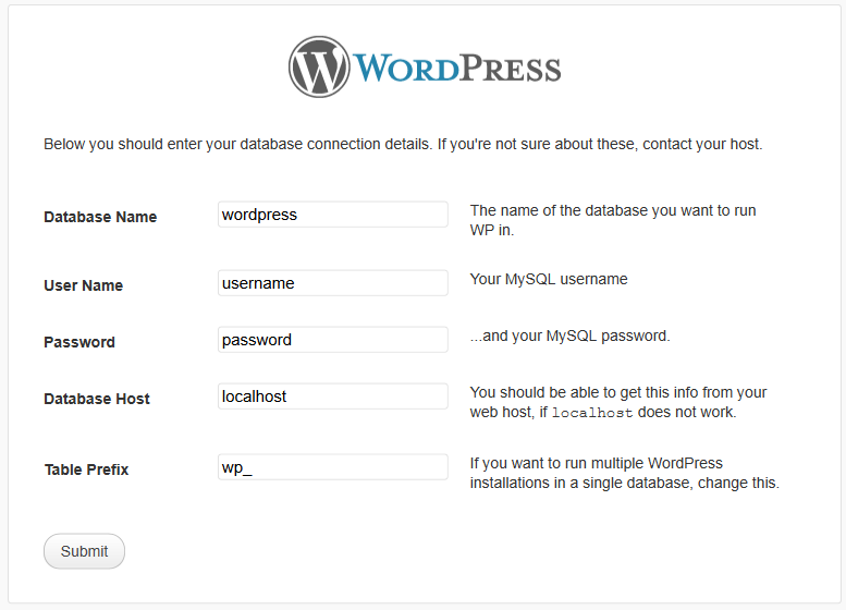 WordPress have made the job of installation simple and easy. Deep joy!