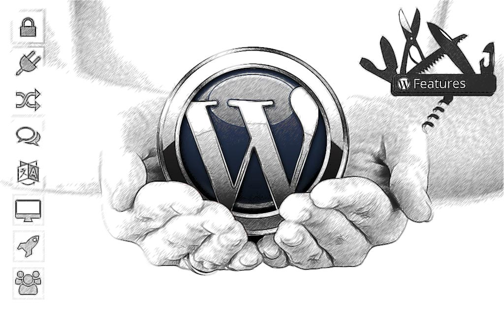 WordPress features cupped hands with logo and utility knife