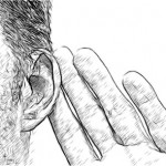 Client-facing skills. Drawing of man listening